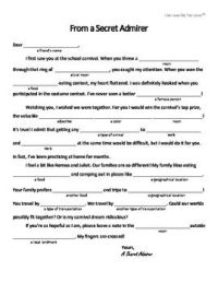"""Free """"Mad Libs"""" Style Worksheet for Valentine's Day ..."""
