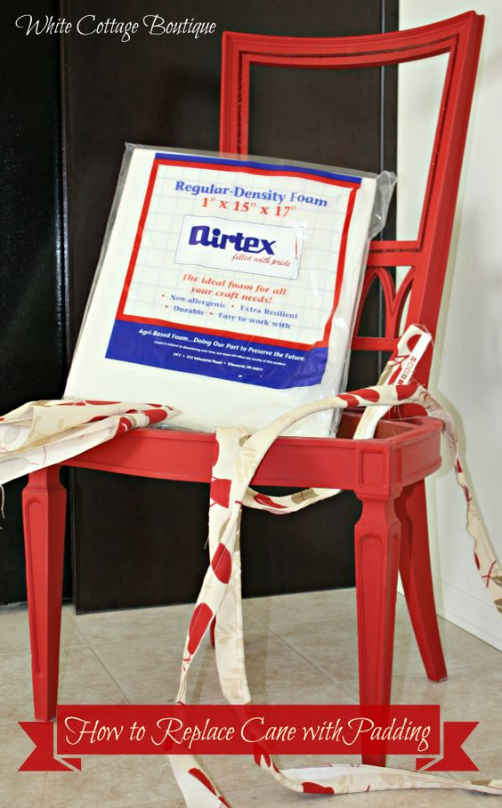 how to replace cane back chair with fabric braided pads for kitchen chairs padding from http