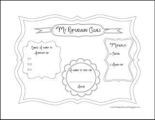 Muslim Mama of 4: My Ramadaan Goals sheet! Print yours