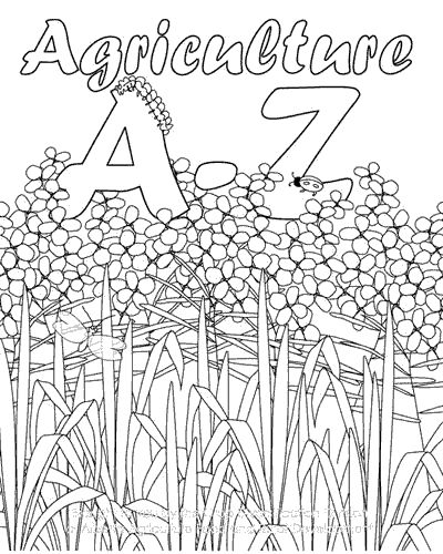 A to Z Agriculture Coloring book printable. Excellent for