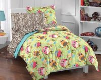 Hoot 5-piece Twin-size Bed in a Bag with Sheet Set | Owl ...