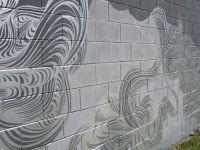 Block wall, Cinder block walls and Cinder blocks on Pinterest