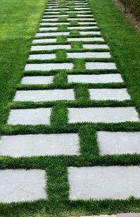 stone and grass walkway   outdoor retreat   Pinterest ...