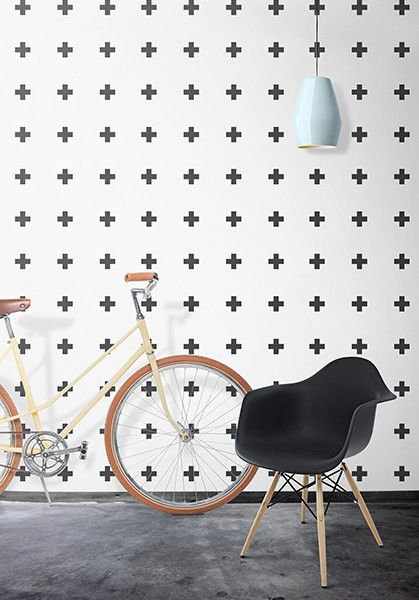 PLUS SIGN WALLPAPER BY INGRID MIKA WP156: