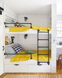 Metal railings, Built in bunks and Bed ideas on Pinterest