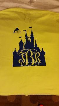 Disney castle monogram initials heat transfer vinyl design ...