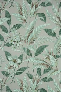 1950's Vintage Wallpaper Large Tropical Leaf green and ...