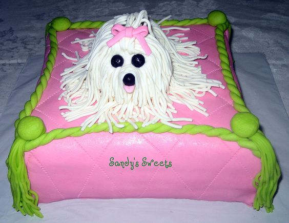 Maltese Puppy Cake Design