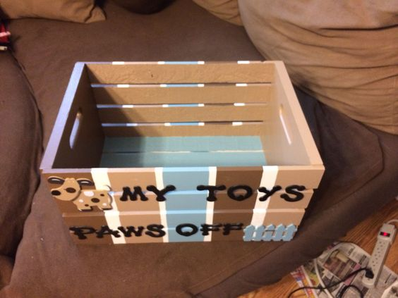 Another dog toy box:
