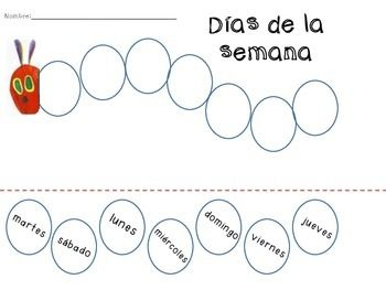 Caterpillar, Hungry caterpillar and In spanish on Pinterest