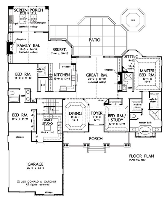 House plans, House and Craftsman ranch on Pinterest
