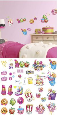Shopkins Peel and Stick Wall Decals - Wall Sticker Outlet ...