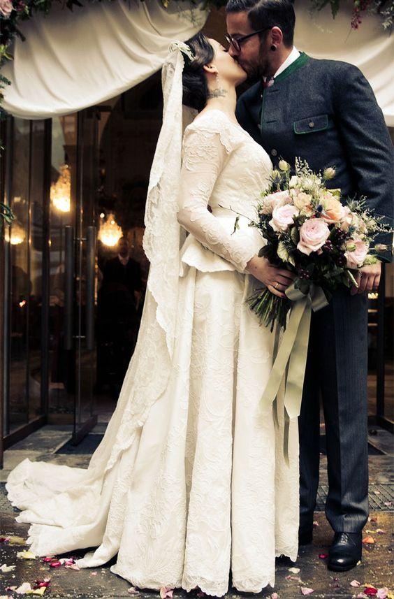 Lena Hoschek hat geheiratet Nach dem Standesamt folgte