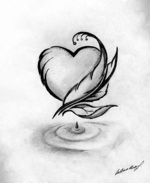 drawing drawings simple cool tattoos draw sketches pretty sketch heart beginners amazing abstract