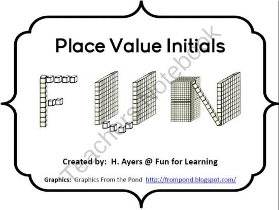 Place Value Names Freebie from Fun for Learning on
