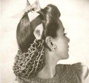 1940s snood crochet pattern