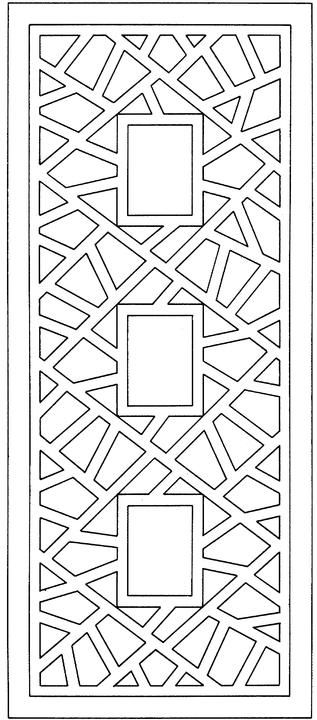 Abstract design for coloring. Mount this on solid colored