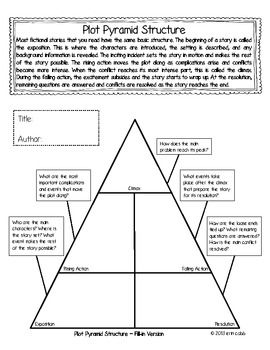plot diagram for bridge to terabithia 1997 ford explorer wiring pyramid freebie graphic organizer with guiding questions | lang. arts ideas - resources ...