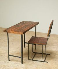 Compact Desk or Console Table - Reclaimed Wood and Iron ...