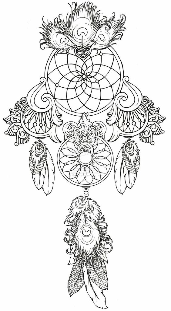 Coloring, Be cool and Dream catcher tattoo on Pinterest