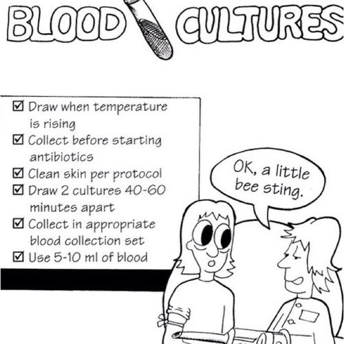 Blood cultures. You must also draw from 2 different sites