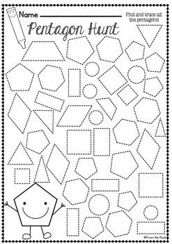 Shape, 2d and Worksheets on Pinterest
