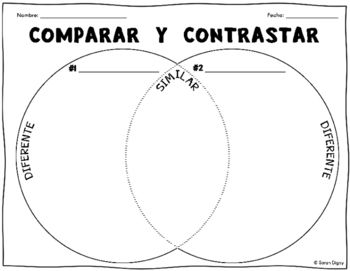 Venn diagrams, Spanish and Worksheets on Pinterest