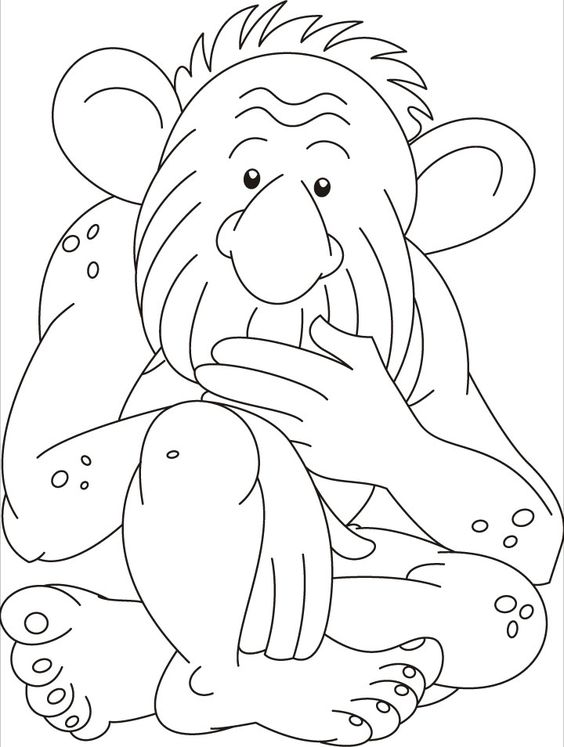 Troll Doll Coloring Books Sketch Coloring Page
