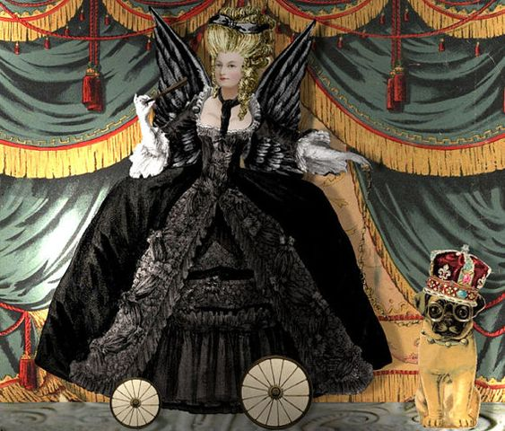 Printable Wicked Marie Antoinette Paper Doll by AlteredArtifacts: