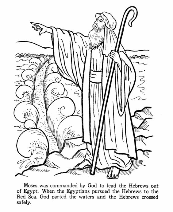 Red sea, Coloring pages and Bible stories on Pinterest