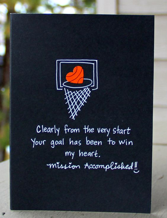 MVP Basketball Love Card Valentine Day Cards Soccer And Cards Diy