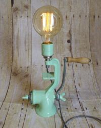 Vintage Up- Cycled Meat Grinder Lamp | Lumiere | Pinterest ...