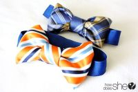 DIY: Make a Bow Tie From a Men's Necktie | Old ties, Boys ...