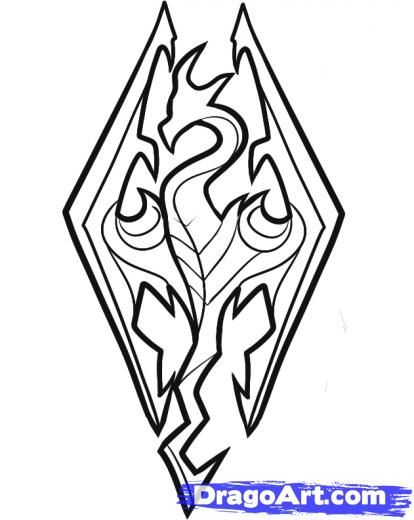 Skyrim Dragon Coloring Pages Pictures To Pin