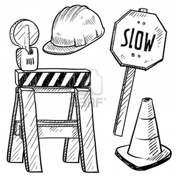 Construction signs, Coloring pages and Coloring on Pinterest