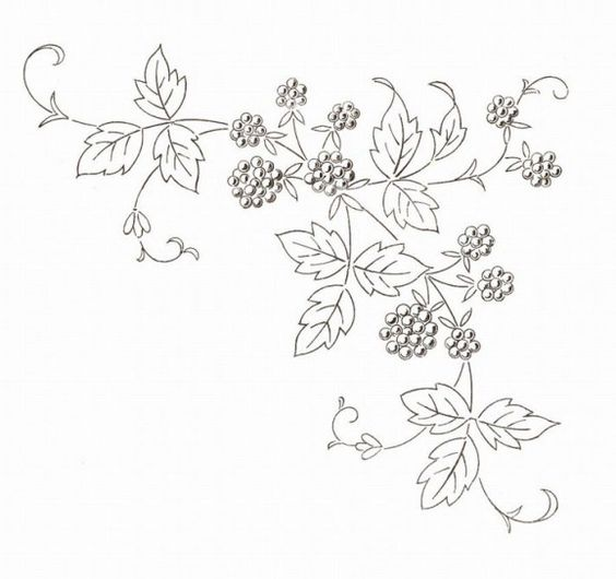 Vintage French Fruit Embroidery Patterns. Free at http