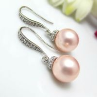Pearls, Bridal earrings and Blush on Pinterest