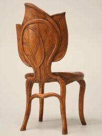c.1890-1910 French Art Nouveau Sculptural Leaf Chair ...