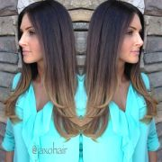 soft ombre balayage hair