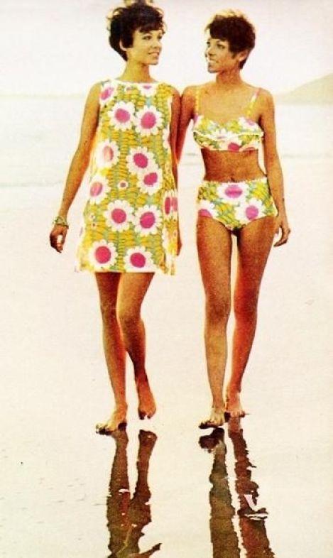 1968 Beach Wear- Vintage Fashion | Mojo Inspiration - I remember equally ugly patterns.:
