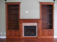 Custom fireplace with built-in bookshelves | Cedar Ridge ...
