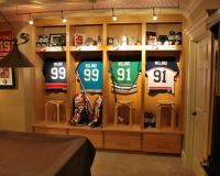 Family Room Sports Memorabilia Design, Pictures, Remodel ...