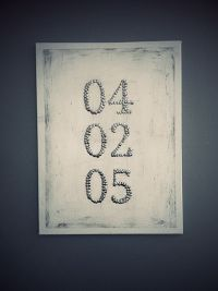 DIY anniversary date thumbtack canvas wall art. | My DIY ...