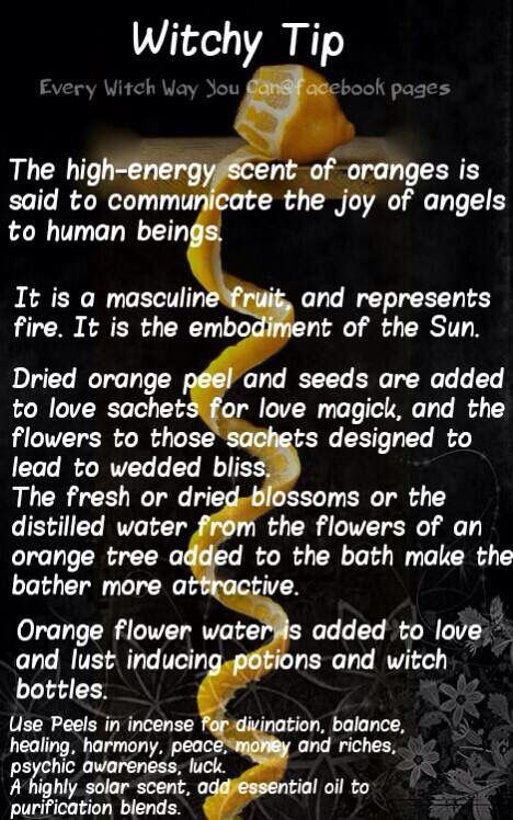 Magickal Tip for Saturday: Oranges…….Magickal Tips & Hints ...