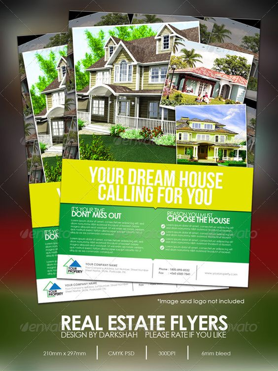Real Estate Modern Flyers Logos Fonts And Green Homes