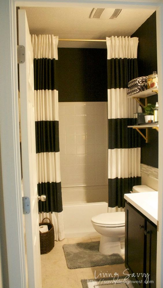 Long shower curtains, Extra long shower curtain and Shower