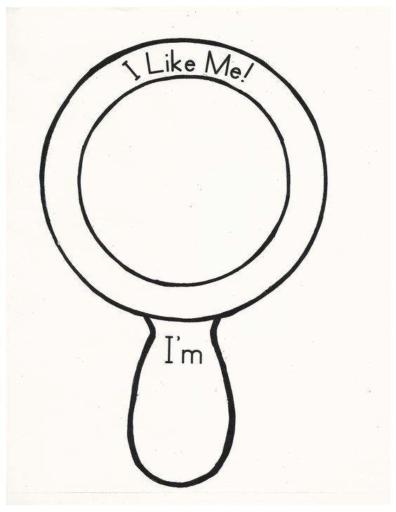 I Like Me mirror for the book What I like about me