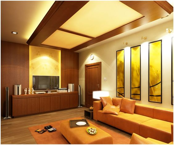 Luxury Pop False Ceiling Designs For Small Modern Living