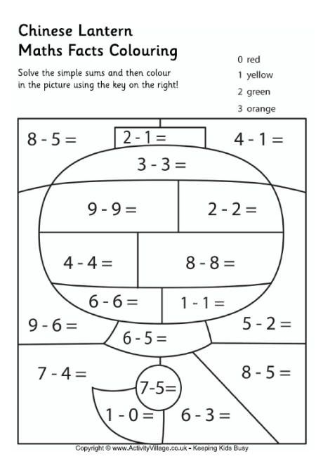 Chinese lanterns, Colouring pages and Math facts on Pinterest