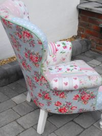 Side view of the patchwork chair using Cath Kidston heavy